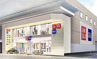 ユニクロ心斎橋店のイメージ図