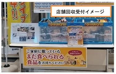 イオン九州のにおけるフードドライブ店舗回収受付イメージ
