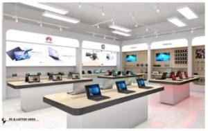 インドネシアSCの「イオンモール セントゥール シティ」内に出店する京東集団の家電やコンピュータなどの専門店「JD.IDエレクトロニック」の完成イメージ