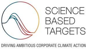 パリ協定における「世界の気候上昇を産業革命前より2℃を十分に下回る水準に抑え、また1.5 ℃に抑える努力を追求する」という目標に準拠しているかを審査、認定している機関。SBT(科学的根拠に基づく目標)のロゴ