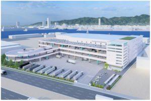 神戸市に新設するニトリの物流センターの完成イメージ