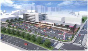 病院併設の「イオンタウン幕張西」完成イメージ