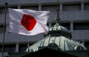 日銀と日本の国旗
