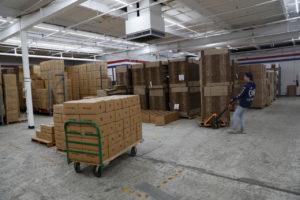 米のオンライン商品の倉庫