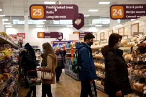ロンドンのスーパーの様子