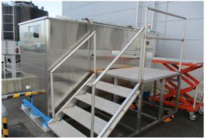 ウエルクリエイトが開発,製造した食品残さ発酵分解装置