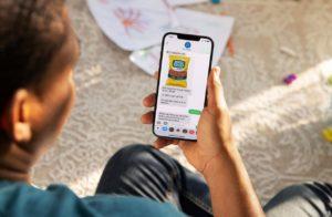 ウォルマートのテキストメッセージを送ると商品が注文できるサービスのイメージ